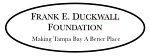 "logo reading ""Frank E. Duckwall Foundation Making Tampa Bay a Better Place"""