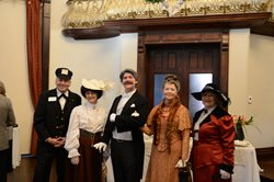 Museum volunteers dressed historically