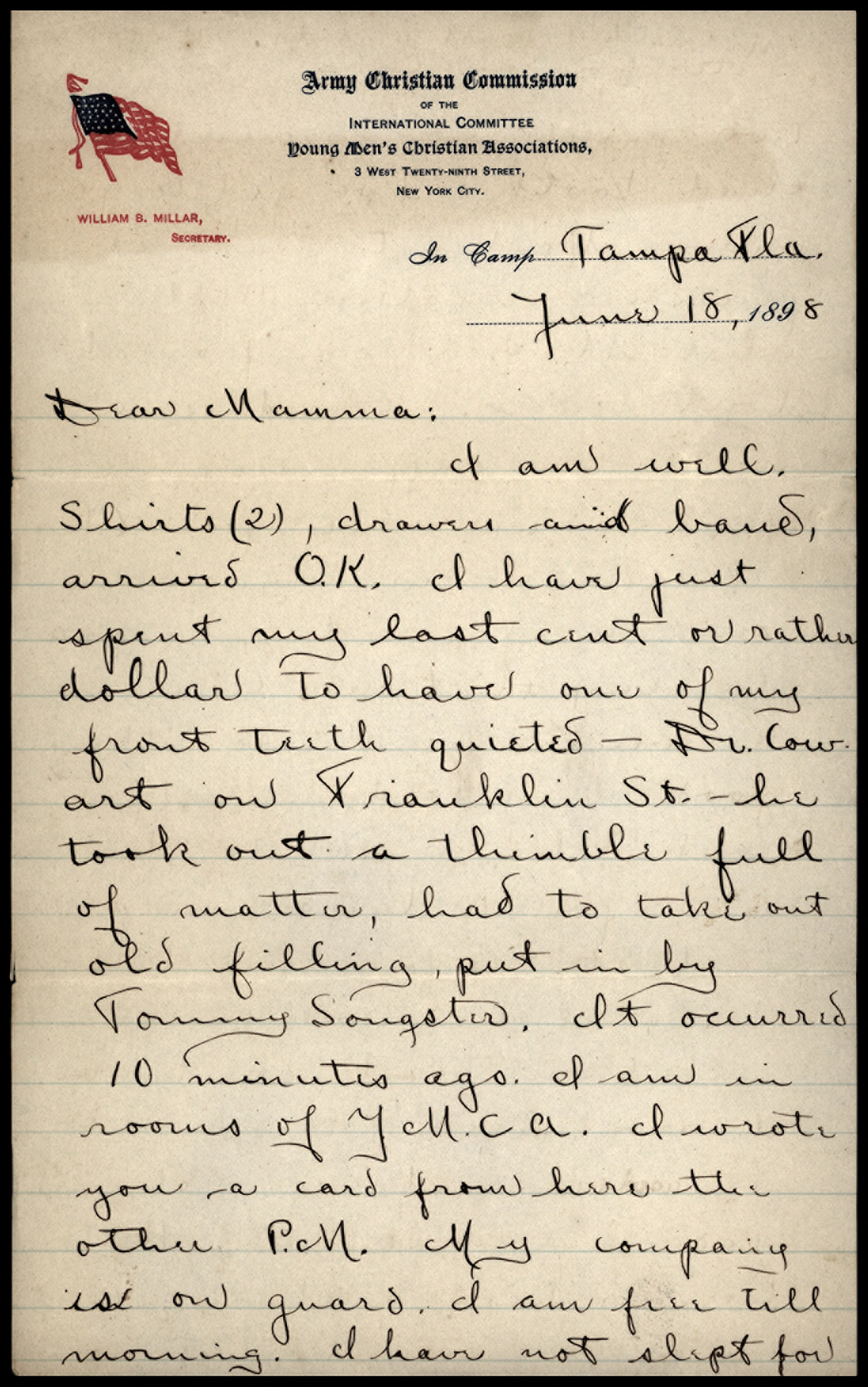 Scan of letter dated June 18, 1898, handwritten script is illegible