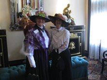 Museum docents in 1890 period attire